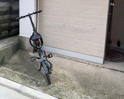 福岡のセルフ防音レンタルスタジオ「クロスタ」の駐輪場